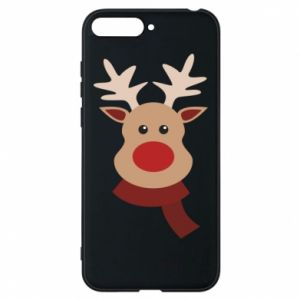Phone case for Huawei Y6 2018 Christmas moose