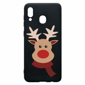 Samsung A20 Case Christmas moose