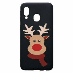 Phone case for Samsung A40 Christmas moose