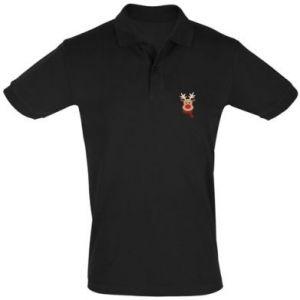 Men's Polo shirt Christmas moose