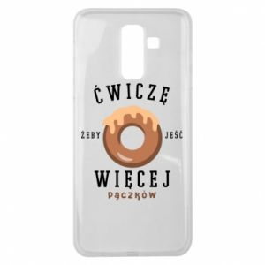 Samsung J8 2018 Case I work out to eat
