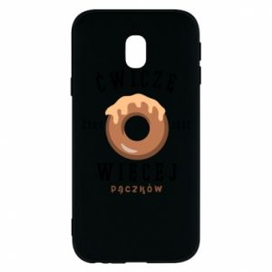 Phone case for Samsung J3 2017 I work out to eat