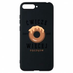 Phone case for Huawei Y6 2018 I work out to eat