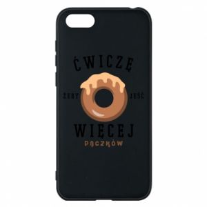 Phone case for Huawei Y5 2018 I work out to eat