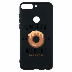 Phone case for Huawei Y7 Prime 2018 I work out to eat