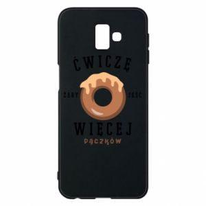 Phone case for Samsung J6 Plus 2018 I work out to eat