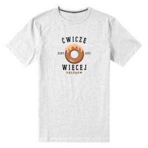 Men's premium t-shirt I work out to eat