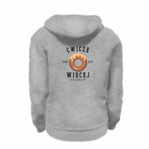 Kid's zipped hoodie % print% I work out to eat