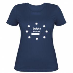 Women's t-shirt Download Holidays