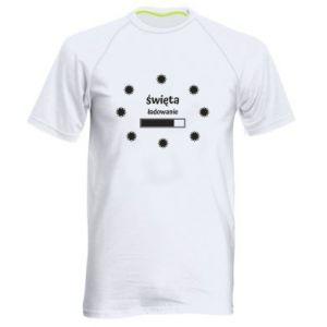 Koszulka sportowa męska Święta ładowanie