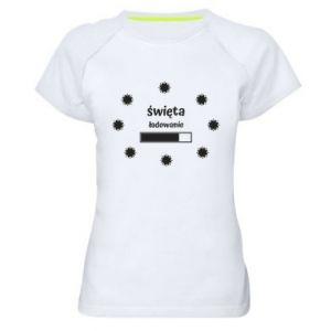 Damska koszulka sportowa Święta ładowanie