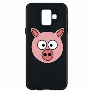 Etui na Samsung A6 2018 Świnia