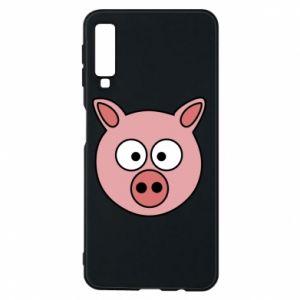Etui na Samsung A7 2018 Świnia