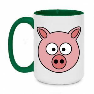 Two-toned mug 450ml Pig