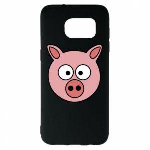 Samsung S7 EDGE Case Pig