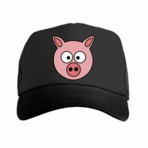 Trucker hat Pig