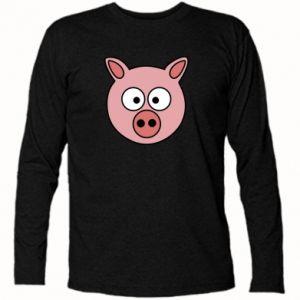 Koszulka z długim rękawem Świnia