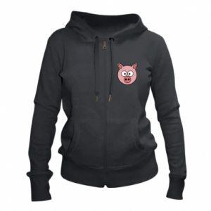 Women's zip up hoodies Pig