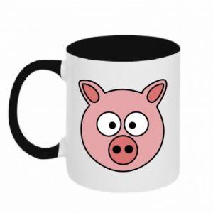 Kubek dwukolorowy Świnia