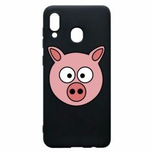 Etui na Samsung A20 Świnia
