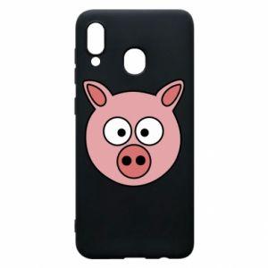 Etui na Samsung A30 Świnia