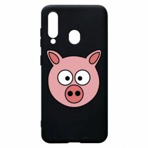 Etui na Samsung A60 Świnia