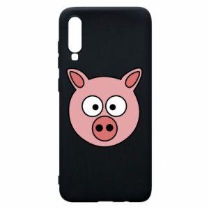 Etui na Samsung A70 Świnia