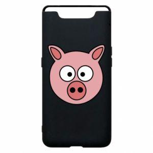 Etui na Samsung A80 Świnia