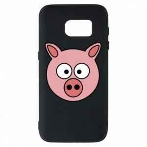 Etui na Samsung S7 Świnia