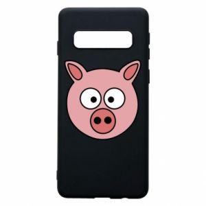 Etui na Samsung S10 Świnia