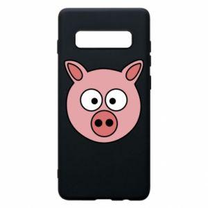 Etui na Samsung S10+ Świnia