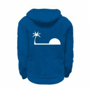 Kid's zipped hoodie % print% Sunrise