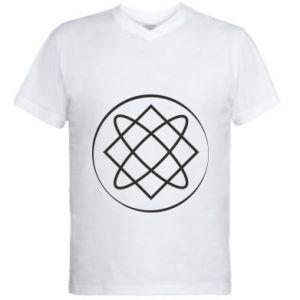 Men's V-neck t-shirt Symbol of love, beauty, motherhood