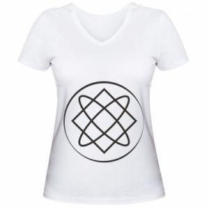 Damska koszulka V-neck Symbol miłości, piękna, macierzyństwa