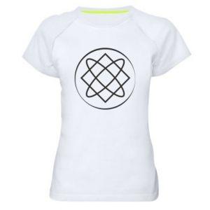 Damska koszulka sportowa Symbol miłości, piękna, macierzyństwa