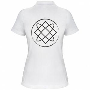 Damska koszulka polo Symbol miłości, piękna, macierzyństwa