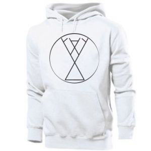 Men's hoodie Symbol of joy, love, life