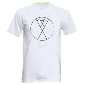 Męska koszulka sportowa Symbol radości, miłości, życia