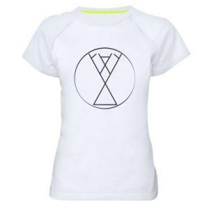 Damska koszulka sportowa Symbol radości, miłości, życia