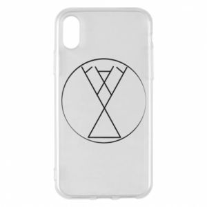 Etui na iPhone X/Xs Symbol radości, miłości, życia