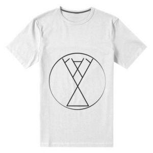 Męska premium koszulka Symbol radości, miłości, życia