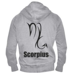 Męska bluza z kapturem na zamek Symbol Skorpiona