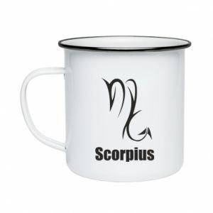 Kubek emaliowane Symbol Skorpiona