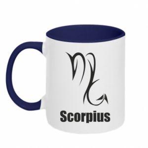 Two-toned mug Scorpio Symbol
