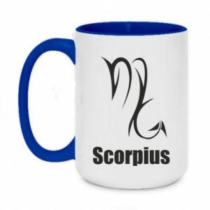 Two-toned mug 450ml Scorpio Symbol