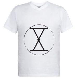 Męska koszulka V-neck Symbol zbiorów i płodności