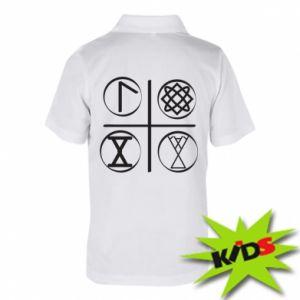 Dziecięca koszulka polo Symbole
