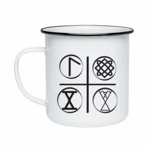 Kubek emaliowane Symbole
