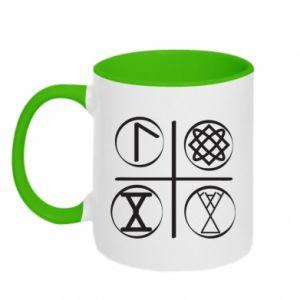 Kubek dwukolorowy Symbole