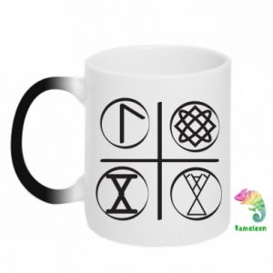 Kubek-kameleon Symbole